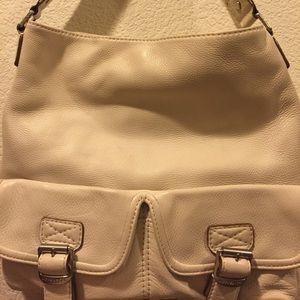 Michael Kors Pebbled Leather Handbag Ivory